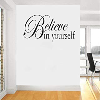 Wall Sticker 50Cm*25.8Cm Believe In Yourself Wall Quote Art Living Room Pvc Wall Sticker