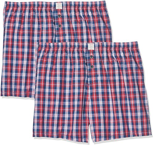 ESPRIT Herren Körperbekleidung Chicago 2 Woven Shorts, Rot (Red 630), Medium (Herstellergröße: 5)