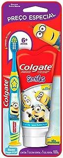 Kit Colgate Smiles 2 unid Escova Dental + Creme Dental Minions 100ml com Preço Especial