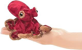 Folkmanis Mini Red Octopus Finger Puppet