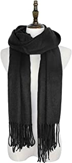 Womens Valentines Gift Large Soft Cashmere Feel Pashmina Shawls Wraps Winter Warm Plain Scarf