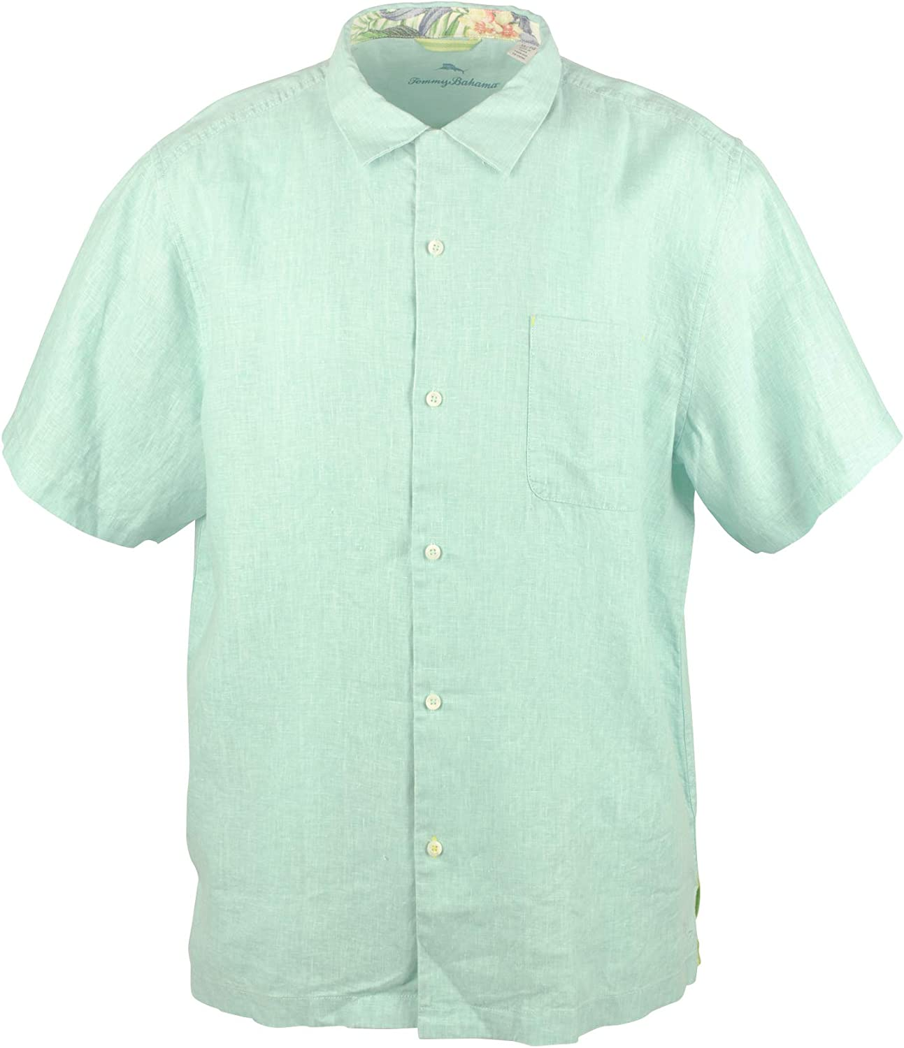 Tommy Bahama Sea Glass OFFer Camp Linen 100% Shirt famous