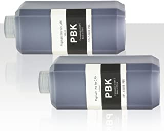 OfficeSmartInk Refill Ink Canon Compatible Photo Black Pigment Ink 500ML (16.91 fl oz) Bottle - 2PK