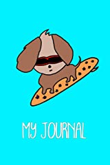 Cool Dog on Surfboard Kids Journal: Educational and fun sketch and write notebook for children. One side blank for drawing and one side with wide ... is infused on each page for extra appeal. Paperback