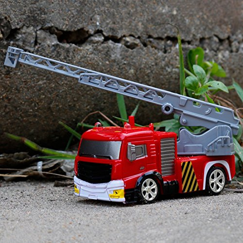 RC Auto kaufen Feuerwehr Bild 6: RC Feuerwehrfahrzeug, Vicoki Ferngesteuert Mini Ferngesteuertes Fahrzeug Feuerwehr Auto Spielzeug*