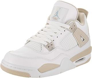 9e38fa5fd268 Jordan Nike Kids Air 4 Retro GG Basketball Shoe 5 White