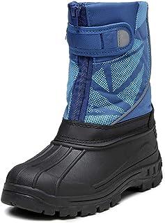 Stivali Invernali Ragazzo Neve, Cerniera Velcro in Pelle Progettazione Stivali Impermeabili, Stivali Caldi della Caviglia ...