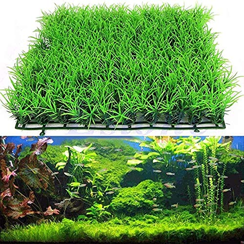 ANNIUP Kunststoff-Wassergras, künstliches Wasser, grüne Graspflanze, Rasen, Aquarium, Landschaft, Simulation von Kunststoff-Wassergras