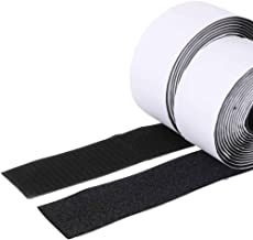 Trubatis 2'' Self Adhesive Hook and Loop 5.4 Yards Tape Fastener Sticky Back (Black)
