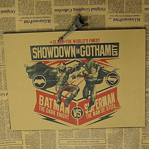 panggedeshoop Batman V Superman Retro Poster Bedroom Dormitory 40X50Cm -Sz1225