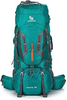 El alpinismo al aire Bolsa Mochila de alpinismo Impermeable Nylon Multifunción Ajustable Viaje a cuestas Caminando Salvaje Camping Ocio Deporte Hombros neutros para uso en exteriores Trekking Mochilas