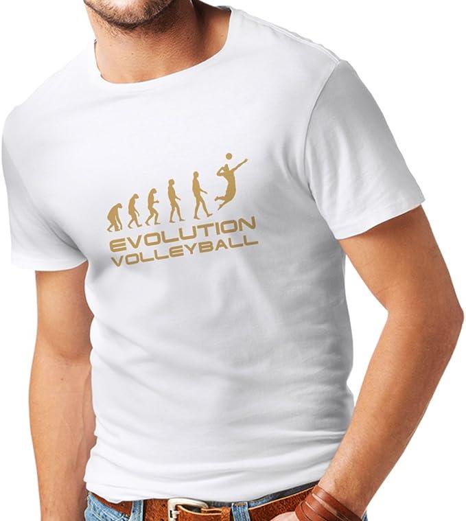 lepni.me Camisetas Hombre La Historia y la evolución del Juego de Voleibol