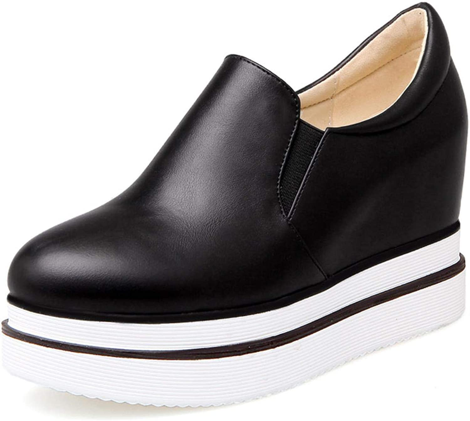 Comfort Round Toe Slip-on Women Solid Casual Flat Platform shoes