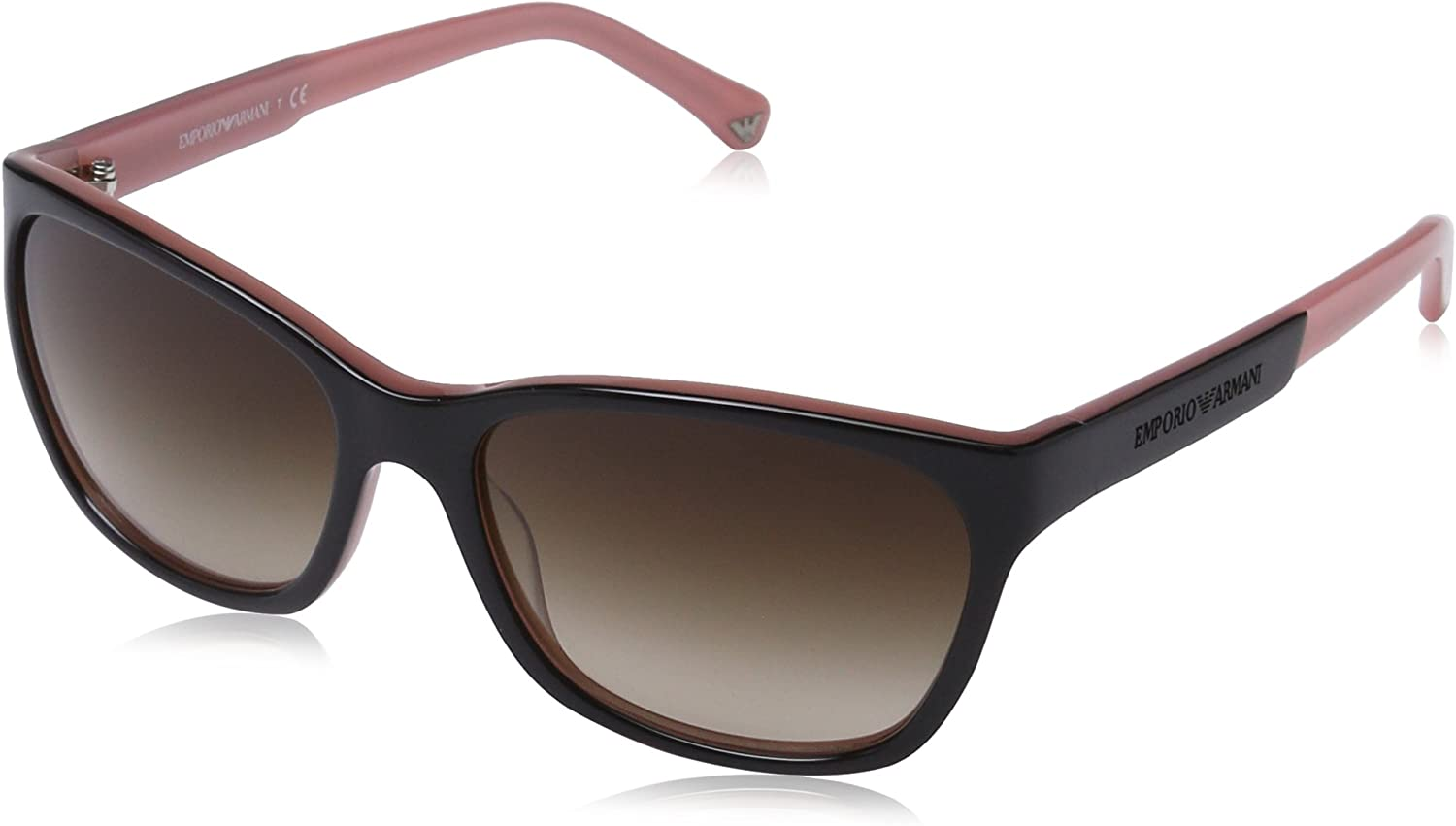 Emporio Armani Women's Gradient EA400450461356 Black Butterfly Sunglasses