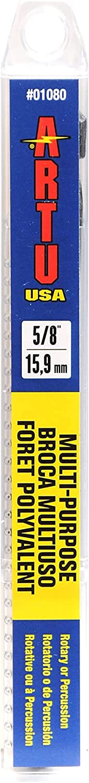 ARTU USA 01080 Multi Purpose Drill 1 6 Selling Max 78% OFF x 8-Inch 5 Bit