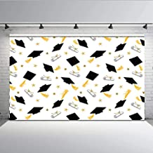 7x5ft Graduation Photo Backdrop Banner Party Decorations Supplies 2019 Photo-Booth Background Graduation Cap Design Photography Party Background W-607