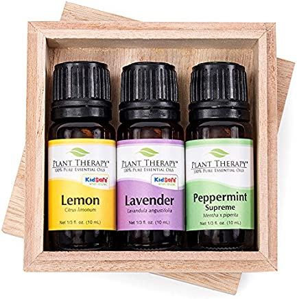 Plant Therapy Lemon, Lavender and Peppermint Essential Oil Set 10 mL (1/3 oz) 100% Pure, Undiluted, Therapeutic Grade