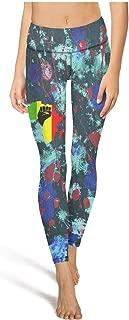 Lady Yoga Pants Floral Mama Bear Good Vibes high Waist Sexy Yoga Leggings with Pockets