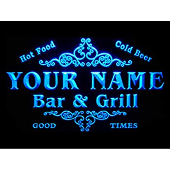 ADVPRO u-tm-b NameName Personalized Custom Family Bar & Grill Beer Home Bar LED Neon Sign Blue 16x12 inches