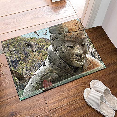 ottbrn grijze Montagnes Vogels Terracotta, badmat, ingangmat, deurmat, binnenruimte, buiten, badmat, 60 x 40 cm