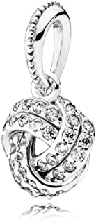 Pandora Women's Sparkling Love Knot Pendant - 925 Sterling Silver, 390385CZ