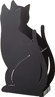 Red Co. Cat Shaped Umbrella Stand Free Standing Rack - Entrance Cane Walking Sticks Holder, Black, 13.5-inch