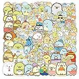 WayOuter Sumikko Gurashi Anime Aufkleber 100 Stück wasserdichte Graffiti-Abziehbilder für Laptop Skateboard wasserdichte Autoaufkleber