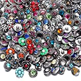 RoyalBeier Mixed Lot Multi Color Rhinestone Metal Button Charms 12mm Snap Button For Snap Jewelry HM008 (30pcs)
