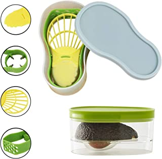 Avocado Slicer, Avocado Saver 5-in-1 Multi-Functional Avocado Tool Set   Avocado Keeper, Cutter, Slicer, Masher, Pitter, Peeler