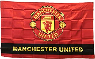 Manchester United Man Utd Soccer Flag - FC Club Banner for Wall Patio Garden Lawn Outdoor Nylon Flag Red/Home 5935IN