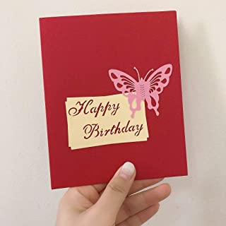 Greeting Card 3D Happy Birthday Card with Butterfly (2)