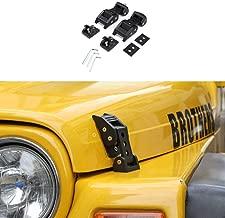 RT-TCZ Aluminum Hood Latches Catch Kit for Jeep Wrangler TJ Accessories 1997-2006 (Black)