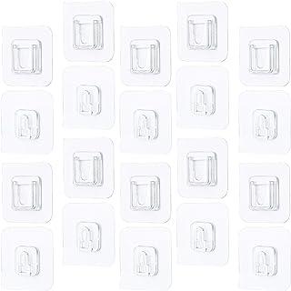 Ganchos Reutilizables para Puerta Ganchos de Palo AOPEI Ganchos autoadhesivos de 8 Piezas Cocina Oficina,Azul Claro marr/ón Amarillo colgadores Adhesivos de Pared Fuertes ba/ño