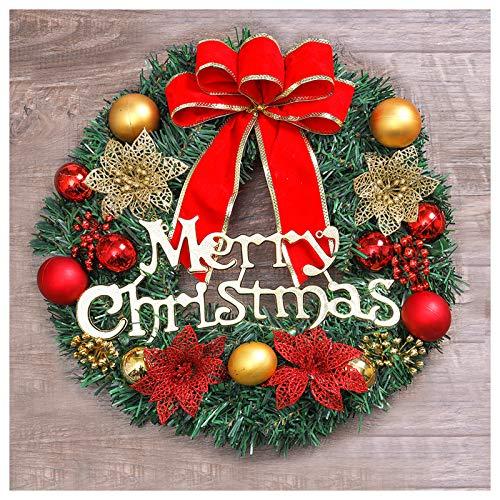 Excluronlder 16 inch Christmas Wreath for Front Door, Artificial Christmas Door Wreaths, Merry Christmas Wreath, Indoor Outdoor Christmas Decoration, Christmas Hanging Wreath