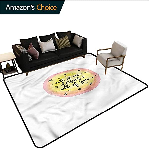 TableCoversHome Love Plaid Area Rug Calligraphic Watercolors Pattern Printing Carpet Durable Carpet Area Rug Living Dinning Room Bedroom Rugs And Carpets 5 X 8