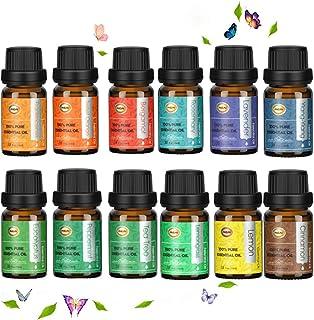 ANEAR Ätherische Öle - Geschenkbox 12 x 10 ml, reiner Lavendel,Lemongras, Teebaum, Eukalyptus, Süße Orange, Zitrone, Pfefferminz, Bergamotte, Weihrauch, Rosmarin, Zimt und Ylang-Ylang