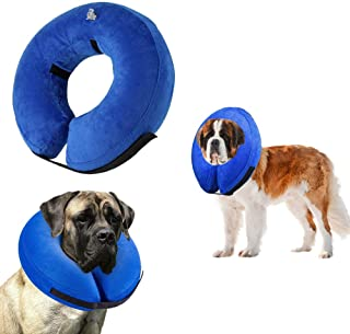 VST Comfy Cone for Dogs Cats,Protective Inflatable Soft Dog Cone Collar,Pet Recovery E-Collar Cones Alternative After Surgery Prevent Pets from Touching Biting Scratching at Injuries Wounds