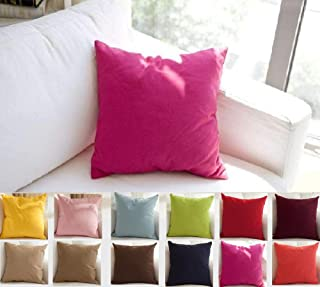 TangDepot Cotton Solid Throw Pillow Covers, 20
