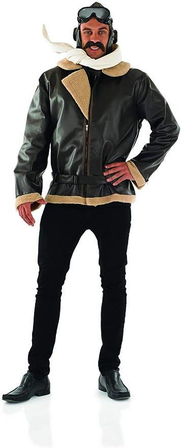 1940s Men's Outfit Inspiration | Costume Ideas Mens Wartime Fighter Pilot Costume Adults WW2 Wartime Aviator Jacket  AT vintagedancer.com
