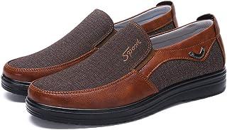 45abd7d0 Zapatos Hombre Cuero Mocasines Casual Zapatillas Casa para Centavo Ponerse  Conducción Formal Negocios Barco Cómodos Caminar