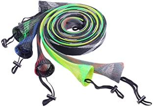 SF Casting/Spinning Fishing Rod Socks Braided Mesh Rod Sleeve Cover Protector Pole Gloves 7-1/4ft -8ft