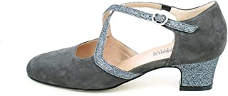 L'ANGOLO CALZATURE - Scarpa da Ballo in camoscio Grigio e Glitter