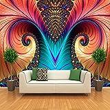 Fototapete Tapete Abstrakte Farbskulptur 300x210 cm Vliestapete Wandtapete moderne Wandbild Wand Schlafzimmer Wohnzimmer Architektur