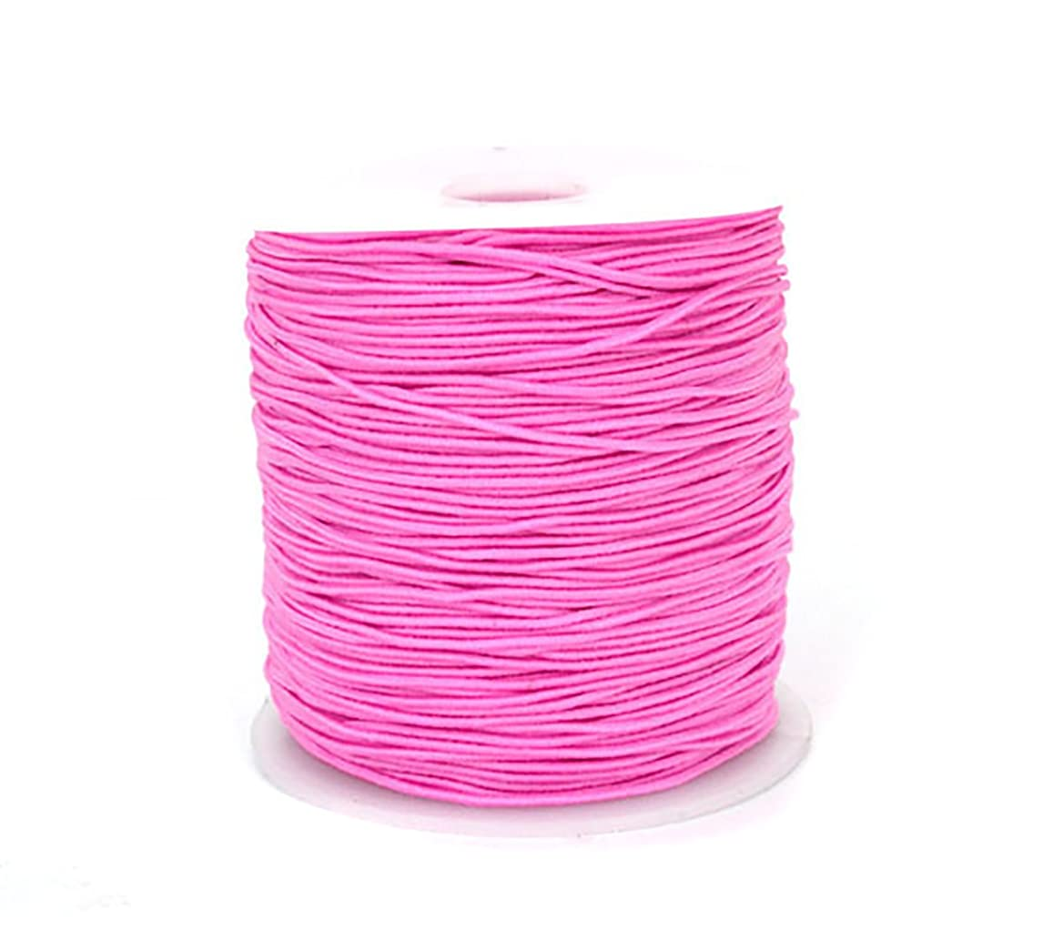 0.8mm 100M Stretch Elastic Cord String Rope Beading Threads Prayer Beads Elastic Thread for DIY Jewelry Making 1 Roll (Pink) blbhh66200335484