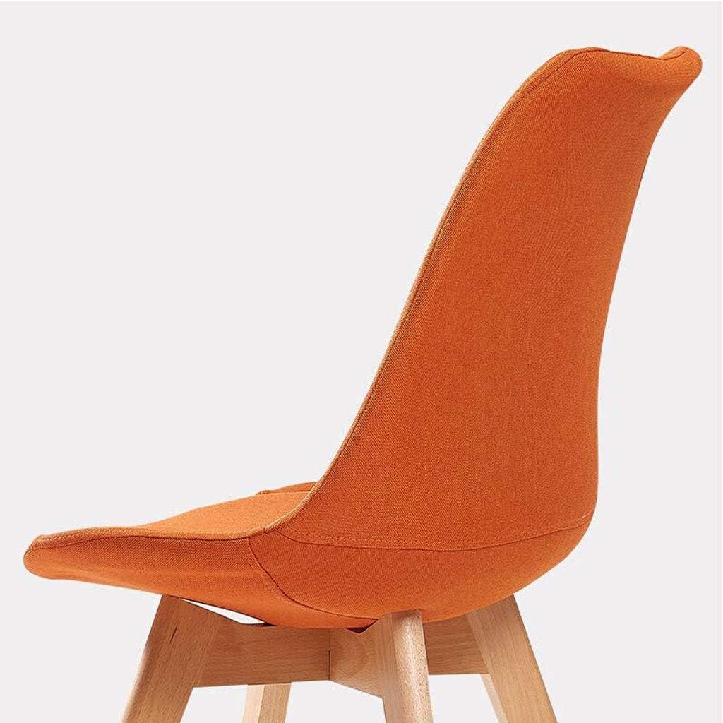 WXF Table de Salle À Manger Chaises Tabouret, Ergonomique Moderne Minimaliste Dossier Chaise Personnel Chaise de Réunion de Bureau (Color : Orange) Orange