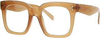 Super Oversized Clear Lens Glasses Thick Square Frame Fashion Eyeglasses