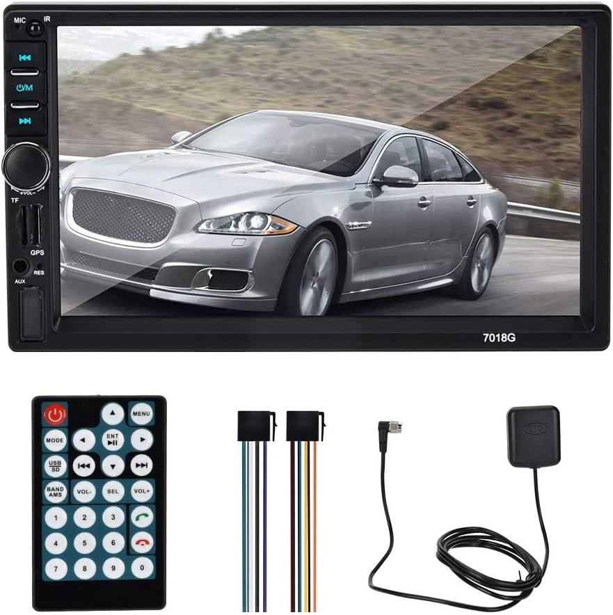 ASHATA Car MP5 Player, 7 pulgadas 2 Din Car MP5 Radio Multimedia Navegación GPS Estéreo para automóvil con Bluetooth, Navegación GPS Car MP5 Pplayer con Bluetooth, Con pantalla HD, Soporte Multi-idiom