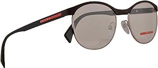 cf88dd34a8 Prada PS50IV Eyeglasses 51-18-140 Brown Rubber w Demo Clear Lens VY21O1