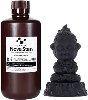 NOVA3D 3D Rapid Resin 405nm UV Curing Resin for 3D Printing LCD Printer Black, 1000g