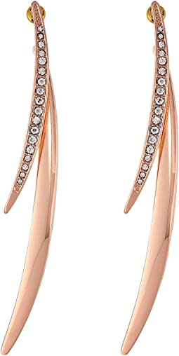 GUESS - Double Curved Stick Front to Back Earring